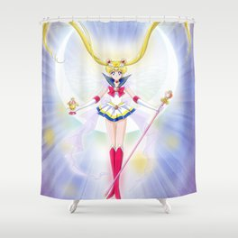 Super Sailor Saint Moon Shower Curtain