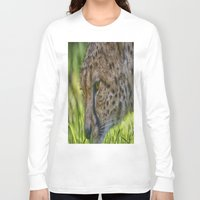 cheetah Long Sleeve T-shirts featuring Cheetah by Darren Wilkes Fine Art Images