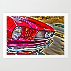 Mustang on Hollywood Hills Art Print