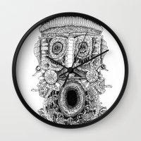 birdman Wall Clocks featuring birdman by Evaldas Boo