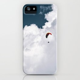 Paraglider on the Cloudy Background iPhone Case