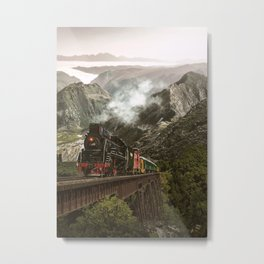 Travelling Beyond Hills Metal Print
