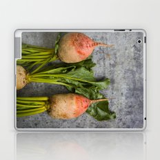 Organic Vegetable - Organic Yellow Beets On Vintage Metal Laptop & iPad Skin