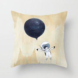 Penguin fly Throw Pillow