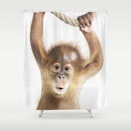 Baby Orang-Utan Shower Curtain
