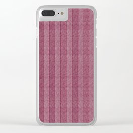 """Pink Vertical Lines Wool Texture"" Clear iPhone Case"