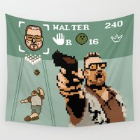 big lebowski Wall Tapestries featuring The Big Lebowski - Mark it Zero by Jude Buffum