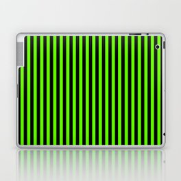 Striped black and light green background Laptop & iPad Skin