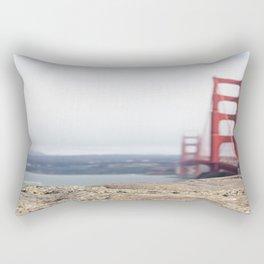Golden Gate Blur Rectangular Pillow