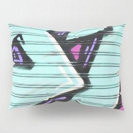 Urban Graffiti Beach Blue Pillow Sham