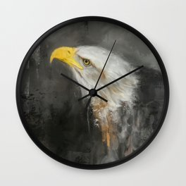 The Mighty Bald Eagle Wall Clock