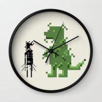 edward scissorhands Wall Clocks featuring Edward Scissorhands by Raquel Segal