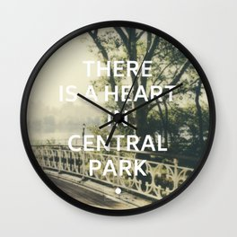 New York (There is a Heart in Central Park) Wall Clock