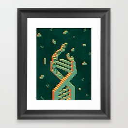 Programmable Matter (Tetris DNA) Framed Art Print