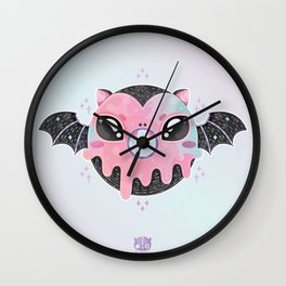 Batty Donut Wall Clock