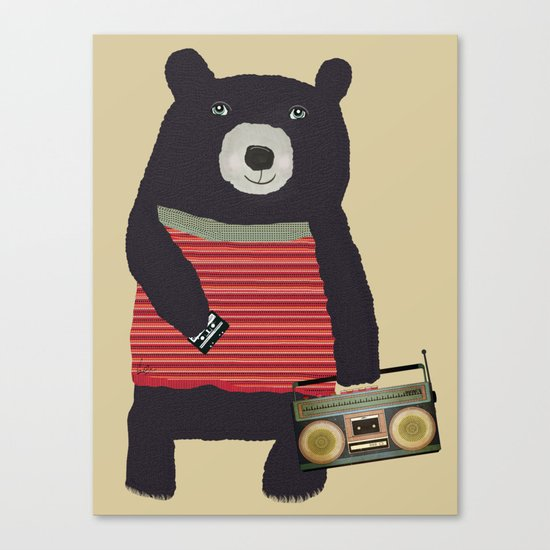 Boomer bear Canvas Print