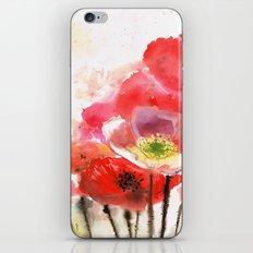 Big poppies iPhone & iPod Skin