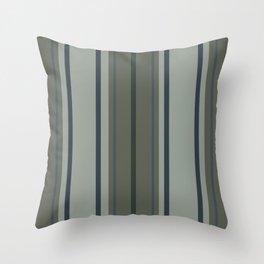 Greens Blues Stripes Throw Pillow