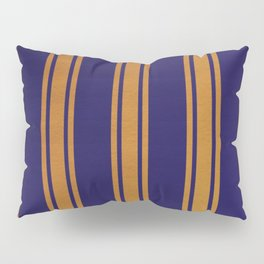 Gold lined on blue background Pillow Sham