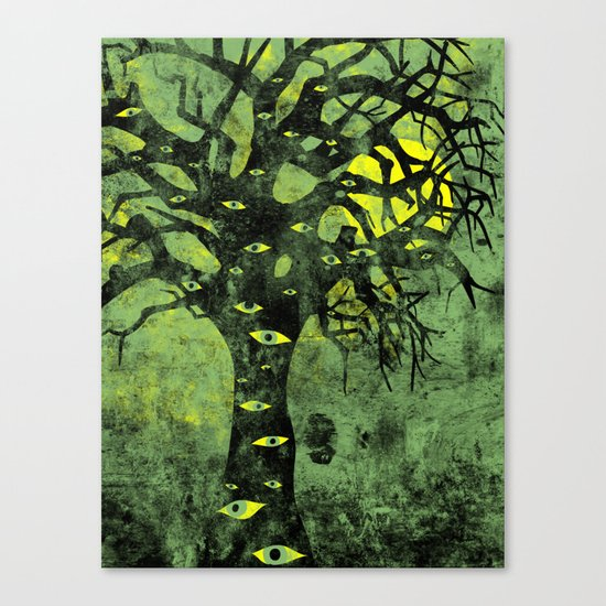 the Vision Tree (green) Canvas Print