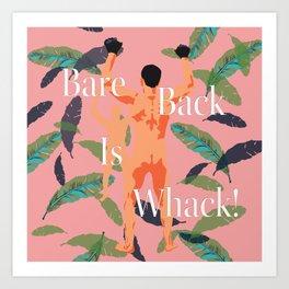 Bareback Banana Leaves Art Print