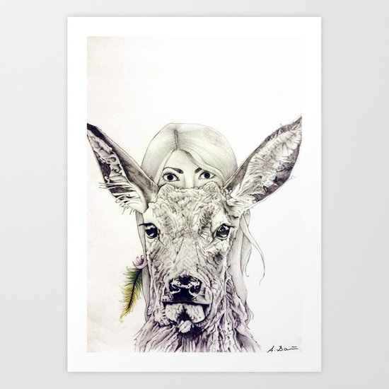 Deer // Pencil Art Print