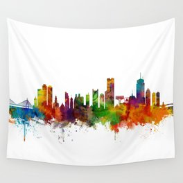 Boston Massachusetts Skyline Wall Tapestry