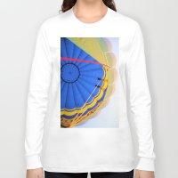 hot air balloon Long Sleeve T-shirts featuring BALLOON LOVE - Hot Air Balloon by Brian Raggatt