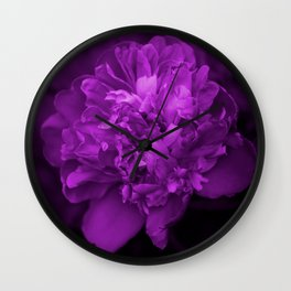 Peony In Ultra Violet Color #decor #society6 #buyart Wall Clock