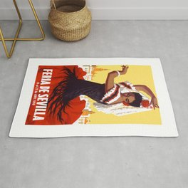 Spain 1959 Seville April Fair Travel Poster Rug
