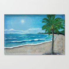 Tropical Beach Canvas Print