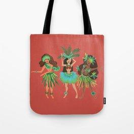Luau Girls on Coral Tote Bag