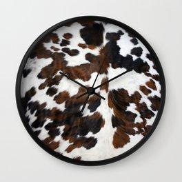 Cowhide Wall Clock