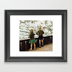 The day of the storm Framed Art Print