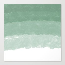 Modern lucite green abstract watercolor ombre pattern Canvas Print