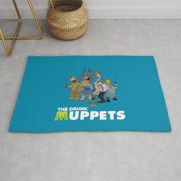 Drunk Muppets Cartoon Parody Rug