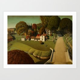 Birthplace of Herbert Hoover, West Branch, Iowa by Grant Wood Art Print