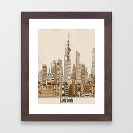 London city vintage Framed Art Print