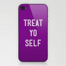 Treat Yo Self Purple - Parks and Recreation iPhone & iPod Skin