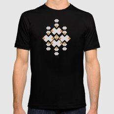Rhombus geometric Black Mens Fitted Tee MEDIUM