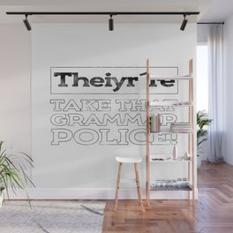 Grammar Police Punctuation Commas Saves Lives Teacher Gift Wall Mural