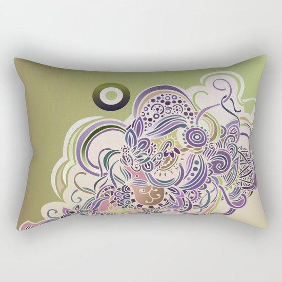 Detailed diagonal tangle Rectangular Pillow