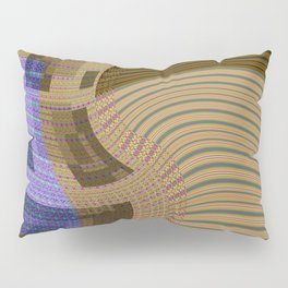 Geometric Squares Weaving Loom Pillow Sham