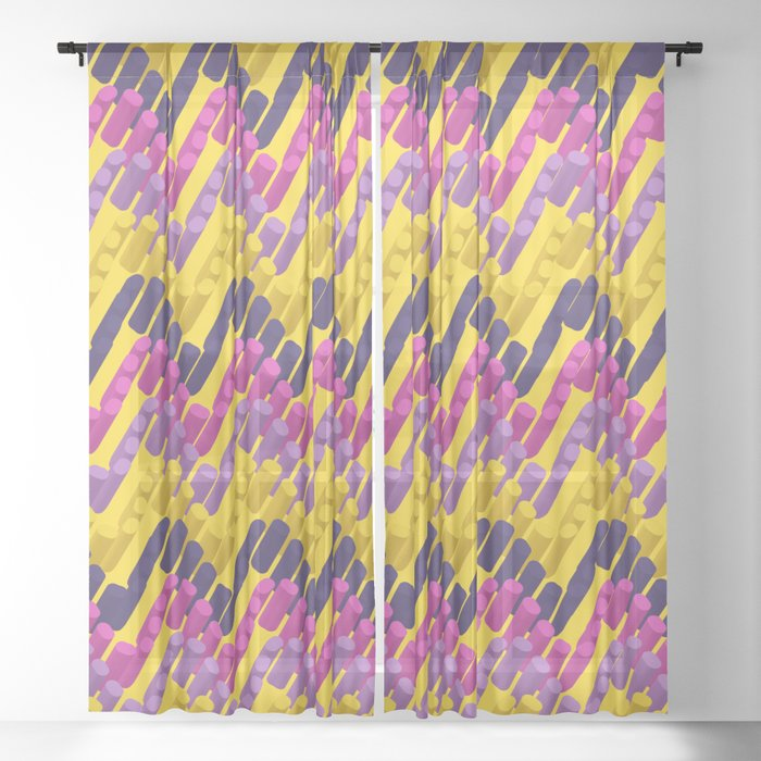 3D Dotted Wave X 2 Sheer Curtain