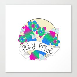 Poly Pride Flowers Canvas Print