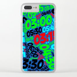 Pace of Run Clear iPhone Case