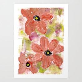 PLAYFUL FLORAL Art Print