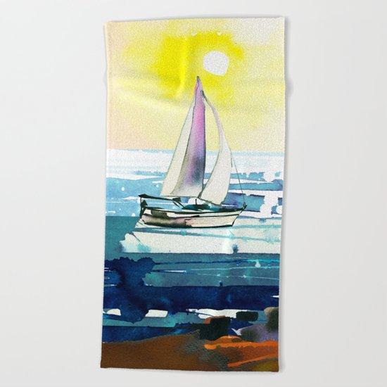 Seascape #7 Beach Towel