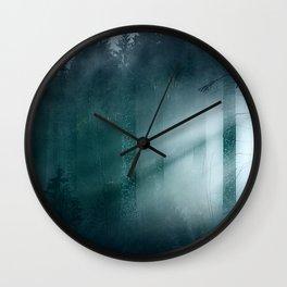 Through the mist Wall Clock