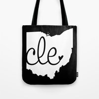 cleveland Tote Bags featuring Love Cleveland by anastasia5